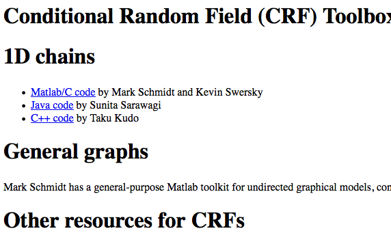 Conditional Random Field (CRF) Toolbox for Matlab | Computer Vision