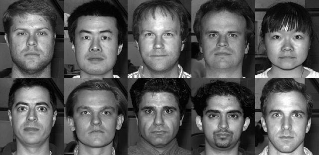 Images of the first subject from extended yale-b face database.